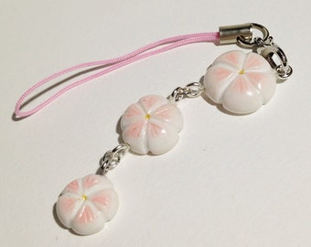 Pink Sakura trio strap