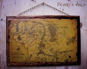 Middle earth map LOTR