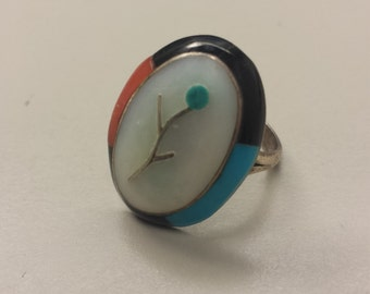 Sterling Silver .925 Ring With Mother of Pearl