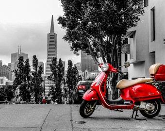 Old times - Scooter Vespa San Francisco