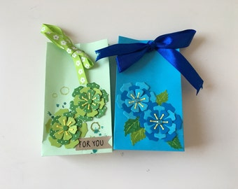 Gift bags set flowers