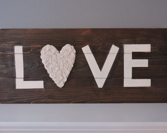 Rustic wood LOVE sign, Home Decor