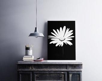 Flower Photography , Flower , Nature , Wall Art , Home Decor , Floral Wall Art , Fine Art Photography , Black , Flower Print