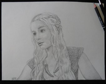 Poster Game of Thrones de Daenerys Targaryen au format A3