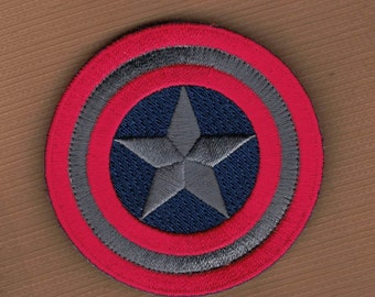 Captain America Marvel Comics Shield Logo Embroidered Velcro Patch