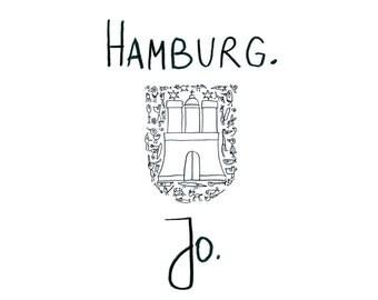 "Postcard ""Hamburg. Jo."" -eDITION good spirits"
