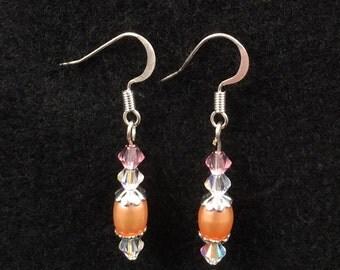 Fresh Water Pearl and Swarovski Crystal Earrings