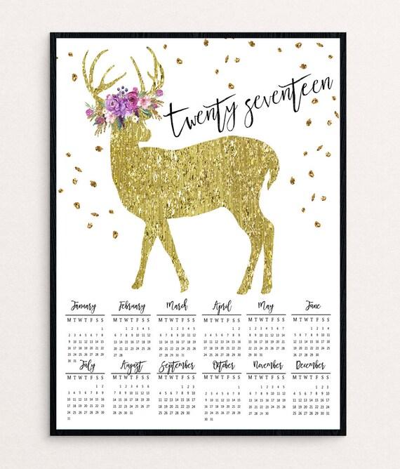 2017 Wall Calendar Printable