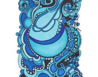 Adult Coloring Book, Petiet Paislies, Coloring  Pages, Ink Drawings, Four Page, Set