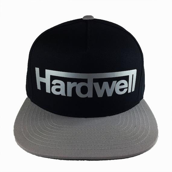 HARDWELL New Black, Gray, and Metallic Silver Baseball Cap - Unisex adjustable closure - Flat bill with green under visor