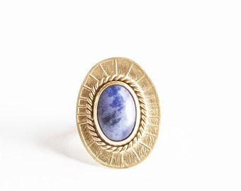 Ophelia Ring in Sodalite