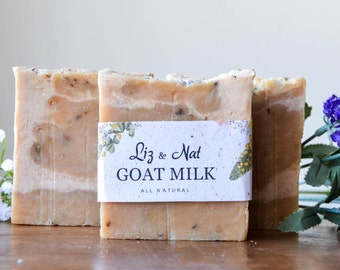 Goat Milk Bar Soap - All Natural Soap, Handmade Soap, Scented Soap, Hot Process Soap, Vegan Soap, Cruelty-Free Soap, Organic Soap, Bar Soap