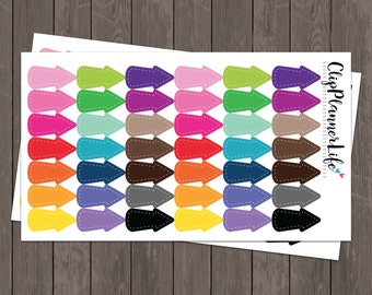 Rainbow Arrow Planner Stickers // Repositionable Matte Stickers