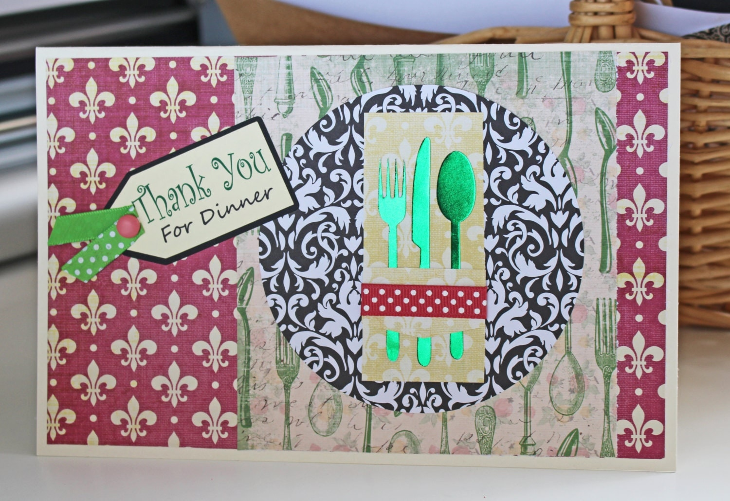 Thank You for Dinner Card - Hostess Card, Place Setting ...