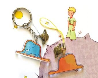 The Little Prince - Boa, Hat, Elephant Keychain
