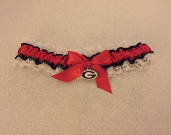 University of Georgia wedding garter