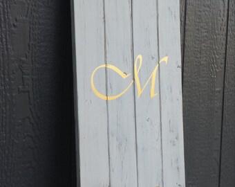 Monogram & Established Sign|Initial Sign|Farmhouse Monogram Sign|Large Monogram Sign|Rustic Monogram Sign|Photo Collage Monogram Sign