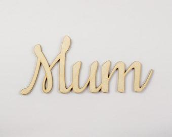 Mum wooden sign - Lasercut - cutout - wedding decoration - gift - family - birthday - door decor - Living room