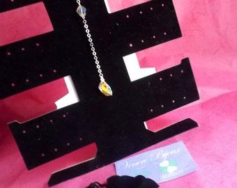 Collana in argento 925 con cristalli swarovski