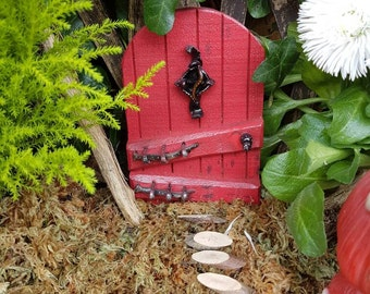 Red witch fairy door