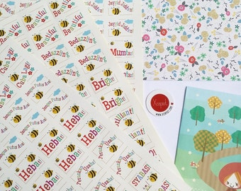 Bubbly Bees Reward Stickers