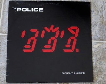 Vintage The Police Ghost in the Machine LP 1981 A&M Records Record AlbumRecord Album