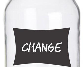 Mason Jar Chalkboard Labels - 14 Burst Labels