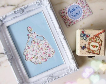 5x7 Cinderella Disney Princess Frame Handmade Papercut Girly Home Decor Gift