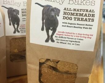 Bailey Bakes Peanut Butter Oatmeal Dog Treats with Salmon Oil