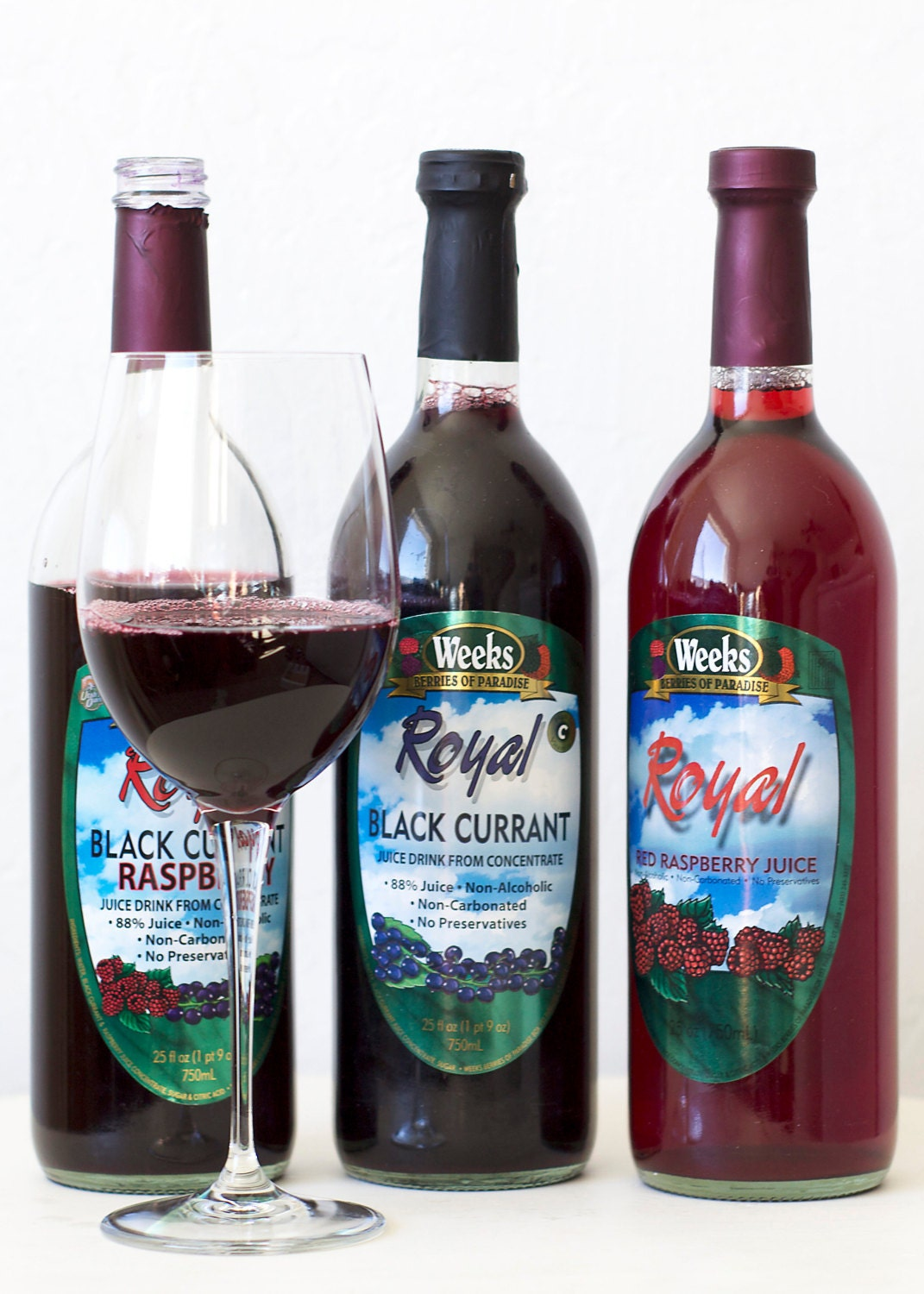 All Natural, Organic, No Preservatives, Royal Red Raspberry Juice, Non-Carbonated - Utah's Own
