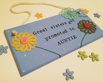 Sister / Aunty Flower Plaque