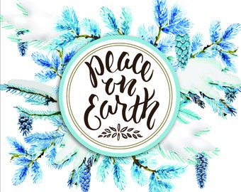 Peace on Earth Print 8x10