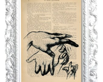 Hands. About the print French publication of the Enlightenment. 28x19cm.
