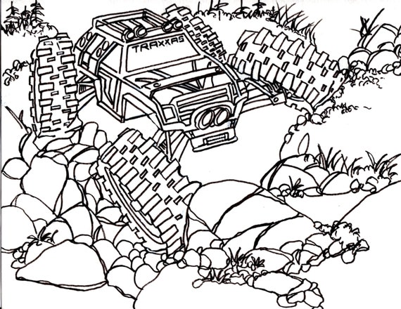 Rc Car Coloring Pages : Coloring pages of rc cars free