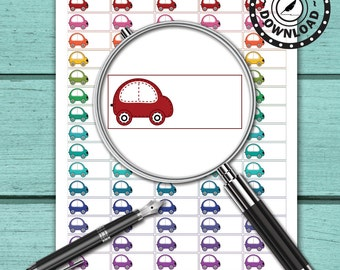 Car Planner Stickers Download Planner Stickers Printable Planner Stickers (ni39)