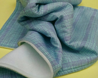 Messy thread bib and burp cloth gift set