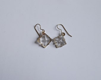Quartz Pyramid Earrings