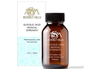 Glycolic Acid Chemical Peel 40% 1oz - Pure, Unbuffered, Cruelty Free