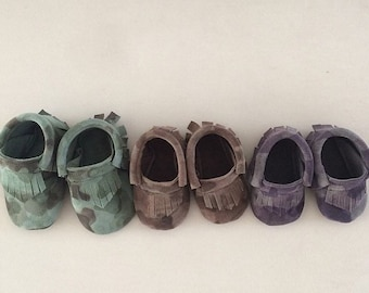 Baby and Toddler Camouflage Moccasins