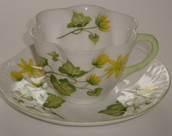 REDUCED  Shelley CELANDINE Dainty Shape Cup and Saucer