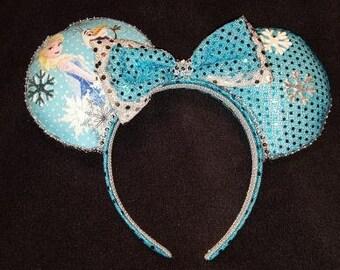 Elsa and Olaf Disney Inspired Princess Ears