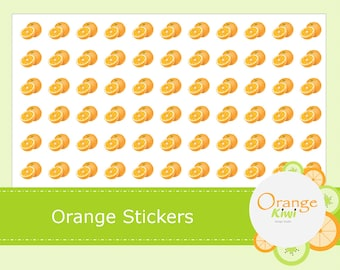 Orange Stickers - Planner Stickers - Orange Slice Stickers - Fruit Planner Stickers