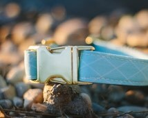The Blue Diamond Dog Collar - Waterproof Durable Metal Outdoor Long Lasting Eco Friendly Banded Pines Gear