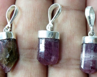 3 Pieces Pink Tourmaline Sterling With Silver 925