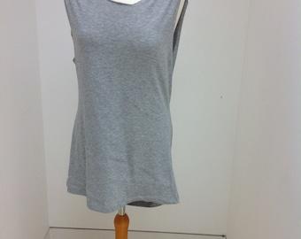 Grey backless vest