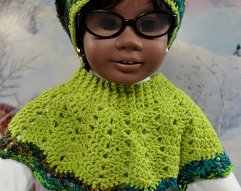 Crocheted Poncho and Hat Set