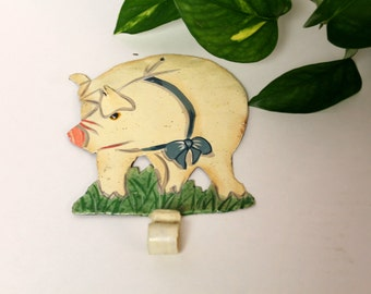 Decorative Wall Hooks For Hanging pig wall hook | etsy