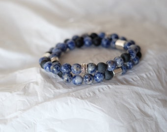Bracelet Pearl semi precious mixed