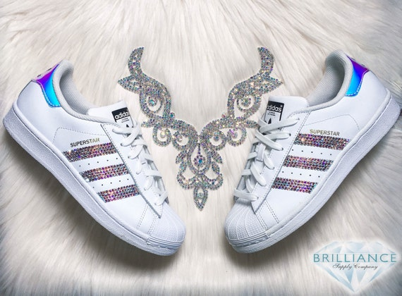 cheap Adidas Superstar Shoes Hologram Metallic by BrillianceSupplyCo ... 2f46e2237b60