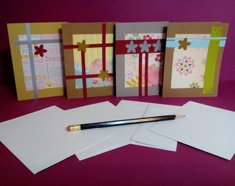 Free Shipping!! Blank NoteCards-set of 4-
